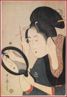 Kitagawa-UtamaroPainting-the-Eyebrows
